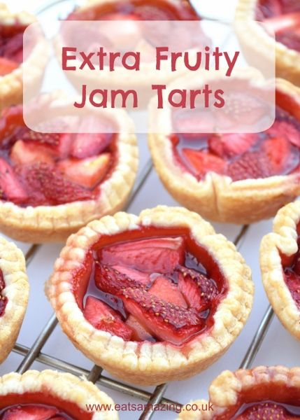 Easy recipe for kids - extra fruity jam tarts with free printable recipe sheet from Eats Amazing UK - get the kids in the kitchen this summer