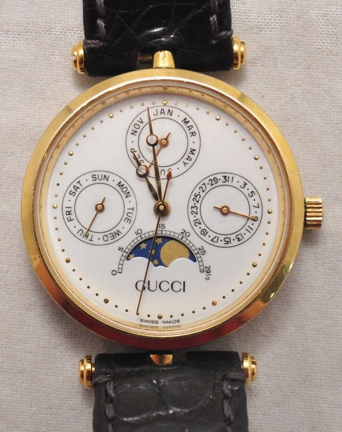 72782388d9a VTG Gucci Triple Date Moonphase Watch