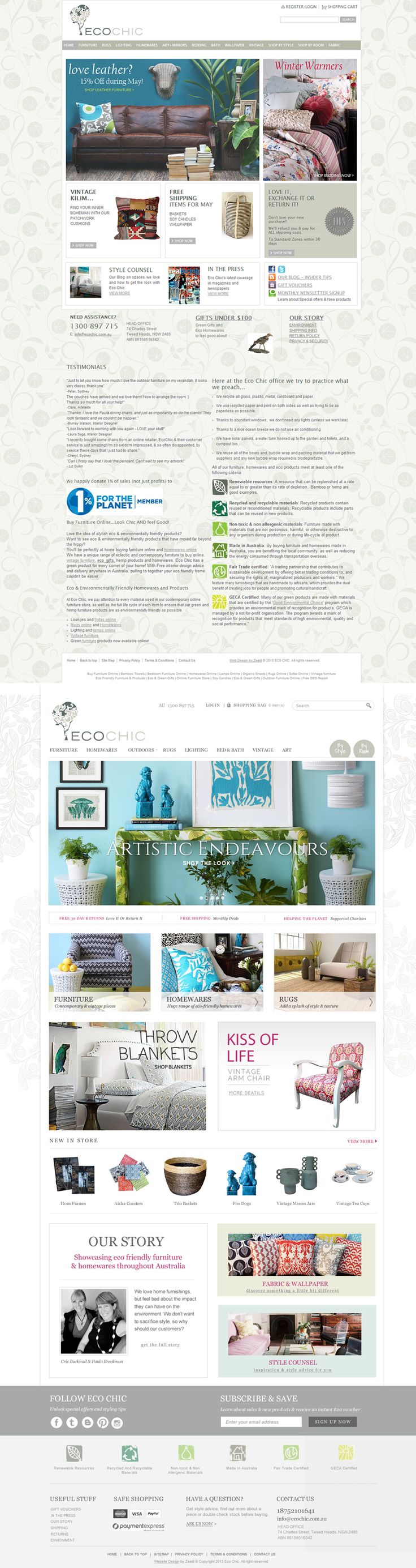 Eco Chic Website Redesign