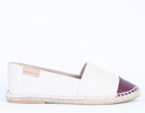 MINT & ROSE - Leather espadrilles. Made in Spain.