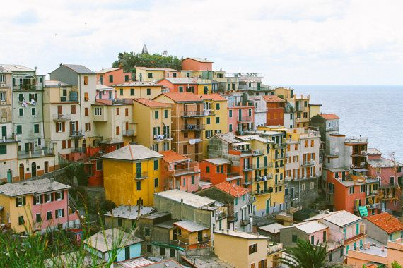 Cinque Terre Italy Coast View Travel Photography Print - Colorful Coast - Travel Photography -  Italy Photo - Italy Art - Photo Print