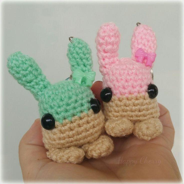 Twin bunny amigurimis 😄