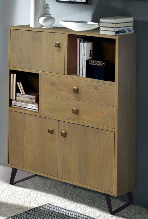 Vitrina mueble colonial compuesta por patas met licas - Mueble estilo nordico ...