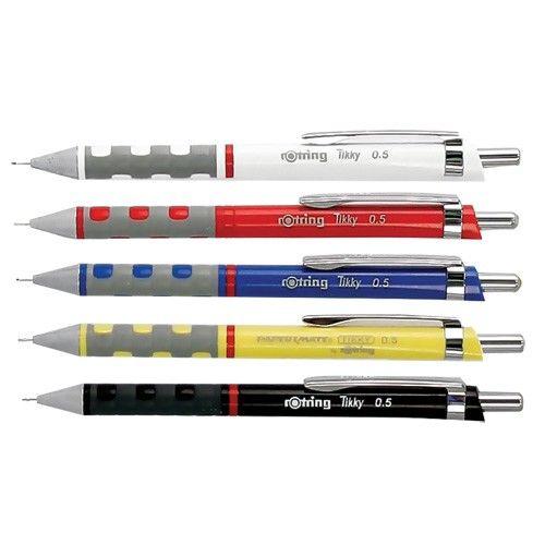 Rotring ceruza 12 színben. Rotring Tikky III 0.5 mm , 0.35 mm , 0.7 mm és 1 mm. Választható színek fekete, piros, kék, sárga, fehér, barna, bordó, szürke, sötétkék, sötétzöld, világos zöld. A rotri…