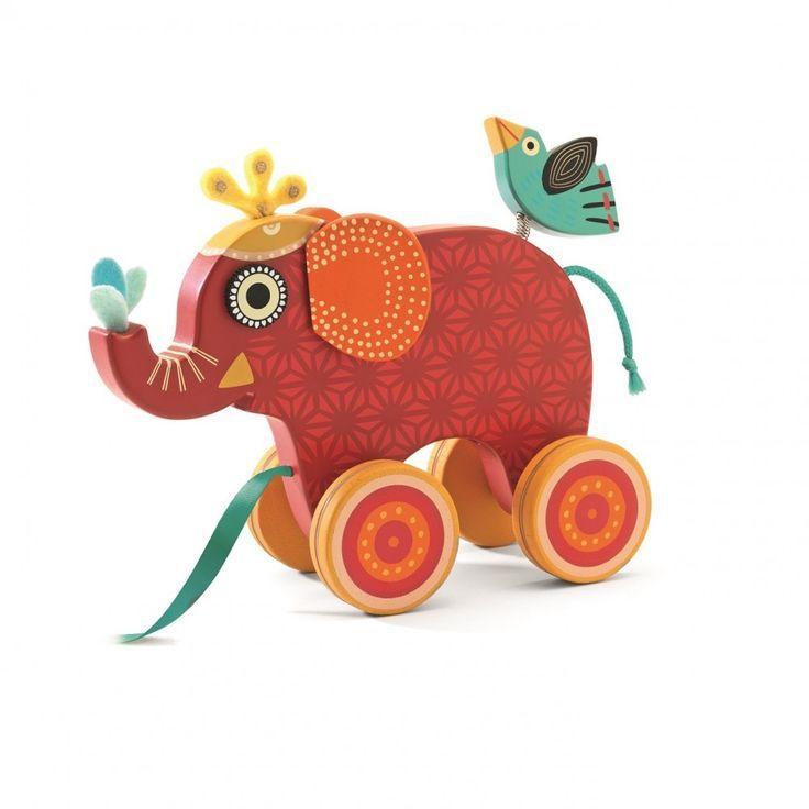 Djeco DJ06231 - Trainabile Elefante - lalberoazzurro.net