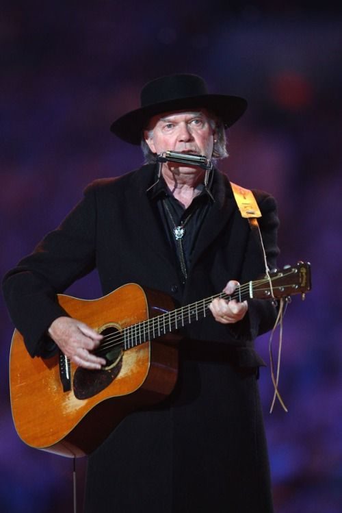 Neil Young performs during the Closing Ceremony of the Vancouver 2010 Winter Olympics | MTV Photo Gallery