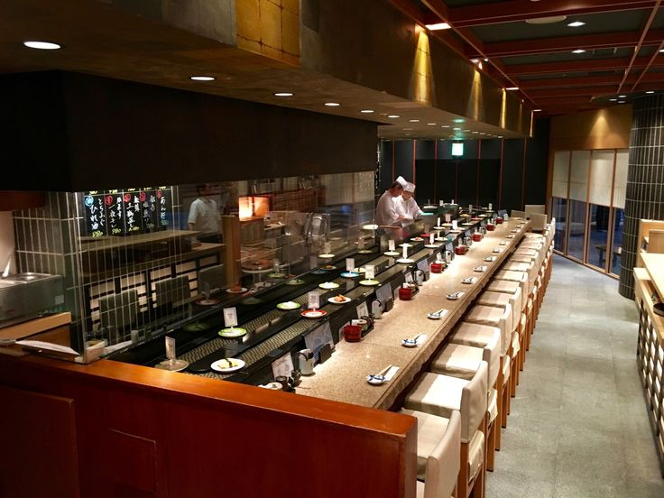 Pintokona (ぴんとこな) Kaiten Sushi or conveyor belt sushi, offers delicious sushi in a family-friendly, non-smoking environment. Located in Roppongi Hills this