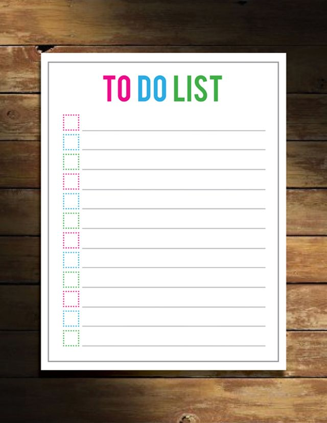 To Do List_Printable pour le bricolage