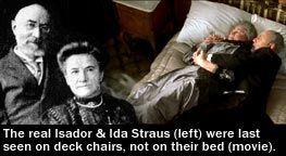 Isidor and Ida were well known amongst the first class passengers aboard the Titanic making their fortune from Macy's department store in New York.   They were married for 41 years when the Titantic sank.  While the boat was sinking Ida was urged to board a lifeboat, however, she refused to leave her husband's side, instead giving up her place to her maid.  They were last seen on the deck of the Titantic in a tight embrace.    Their funeral grew a large crowd and there's still a monument…