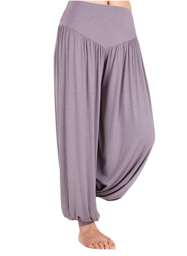 1a7fc75956 Amazon.com: AvaCostume Womens Modal Cotton Soft Yoga Sports Dance Harem  Pants, XL