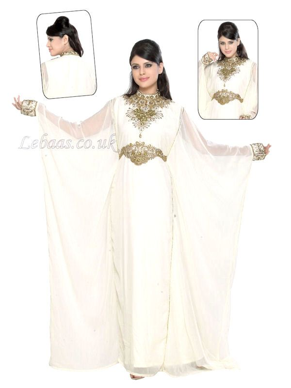24 best images about arab wedding gown on pinterest for White kaftan wedding dress