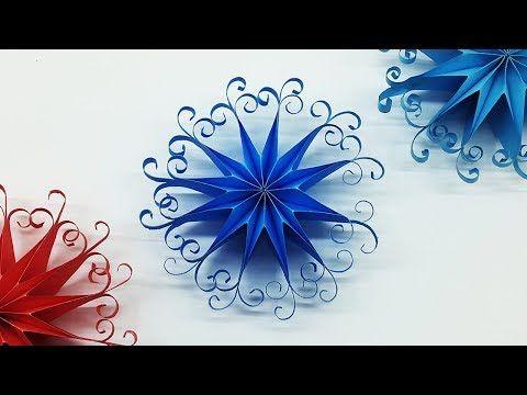 Diy 3d Quilling Paper Snowflakes