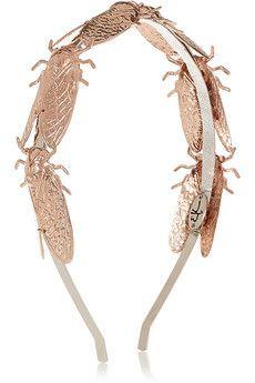 Eugenia Kim Milou rose gold-plated headband   NET-A-PORTER