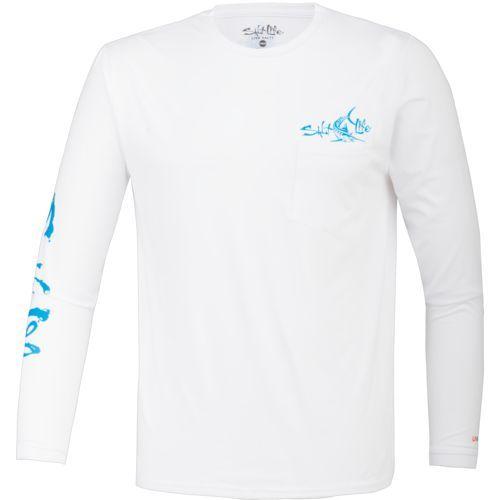 Salt Life Men's Captain SLX Long Sleeve T-shirt (White, Size Large) - Men's Outdoor Apparel, Men's Outdoor Graphic Tees at Academy Sports