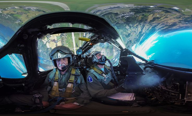 https://flic.kr/p/y7jcZh   360 Cockpit view -  upside down   360 cockpit view from a Vampire fighterjet doing aerobatics. Watch the 360 video -> www.youtube.com/watch?v=cGB8LIL-7cY  This is shot with 6 Gopro cameras mounted inside the cockpit of the airplane while the plane is upside down, 6000 feet up in the air.  More 360 content www.flickr.com/groups/gopro360/