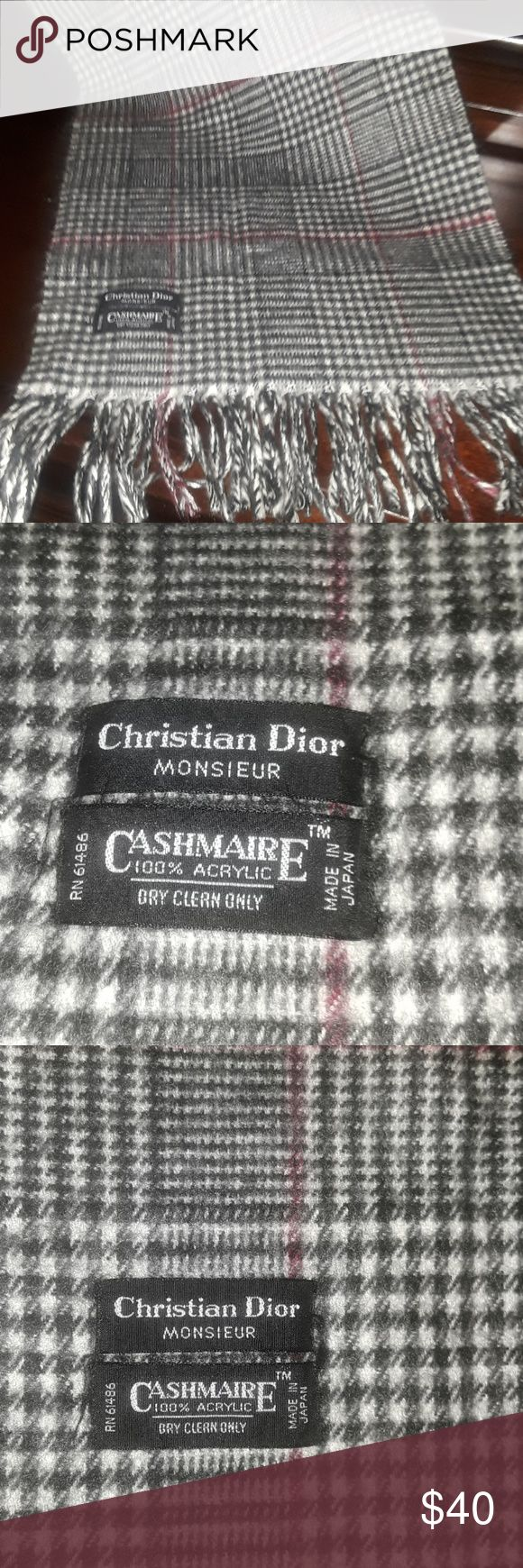 Christian Dior Monsieur Scarve Authentic and very nicely done by Dior!  Made in Japan. Christian Dior Accessories Scarves & Wraps