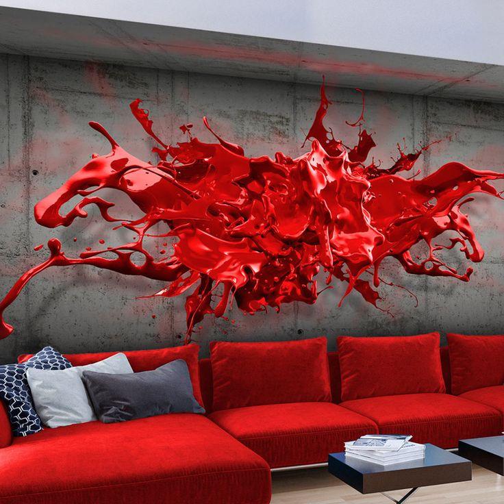 Vlies Tapete ! Top ! Fototapete ! Wandbilder XXL ! 400×280 cm WAND BETON FLECK FARBE 3D OPTIK a-A-0186-a-b