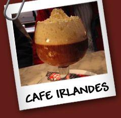 Irish Coffee Ingredientes: • Whisky irlandes 3/9. • Cafe 3/9. • Nata 3/9. •