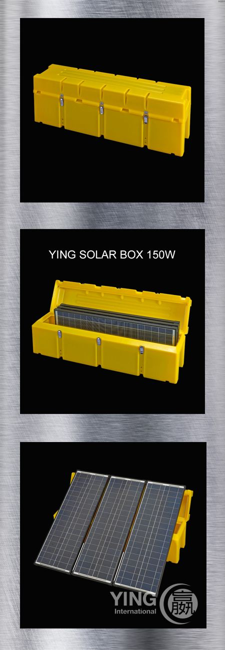 SOLAR in a BOX: YING #SolarBox 150W, 3 x 15W #SolarPanel in a solid box to charge all kind of car batteries , 3 in 1 connector, 12V DC plug,  1000W inverter  #110V or #220 V AC (optional)  Perfect for #WeekendHomes, #Outdoor or #Emergency Read more: http://www.ying-international.de/solar/portable-solar-systems/ying-solar-box-150/  Contact: Juergen Mueller , YING International, Germany  Email:  CS@YING-International.com