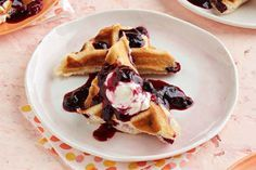 It's time to dig out that waffle iron!  Our Blueberry-Lemon Cheesecake Waffles recipe uses a secret ingredient to help get brunch on the table in record time.  That's right - no waffle batter required!