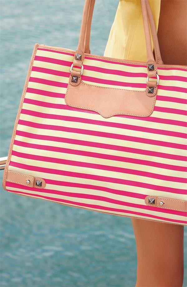 neon pink stripes.