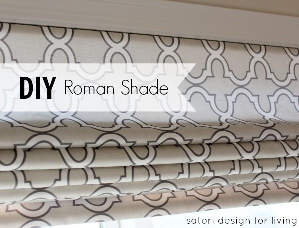 DIY Custom Roman Shade, Designer look without the designer price.  You can do your own Roman Shade window treatment!