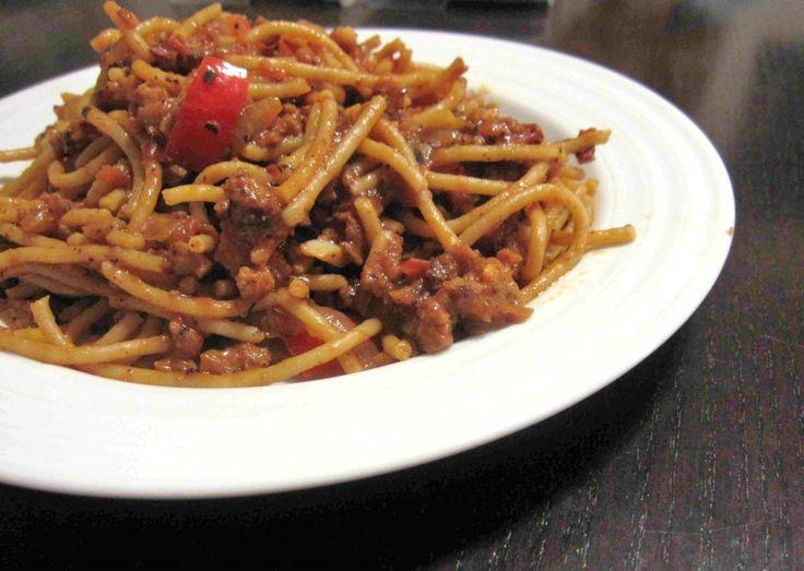 Spaghetti and Seitan Ragu