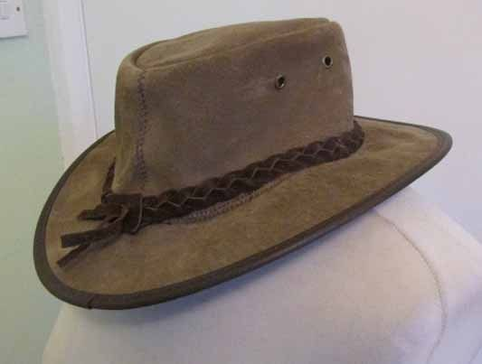 #Barmah 1061 foldaway brown #suede leather #waterproof bush hat made in australia,  View more on the LINK: 	http://www.zeppy.io/product/gb/2/232146579315/