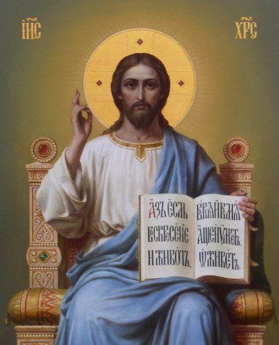 Спаситель на престоле, икона, иконописец Дмитрий Хомяков