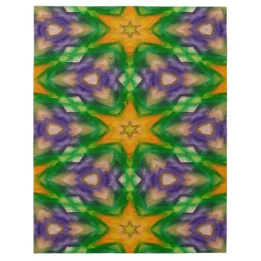 Mardi Gras Stars #4950 8x10 Puzzle design featuring purple, green and gold