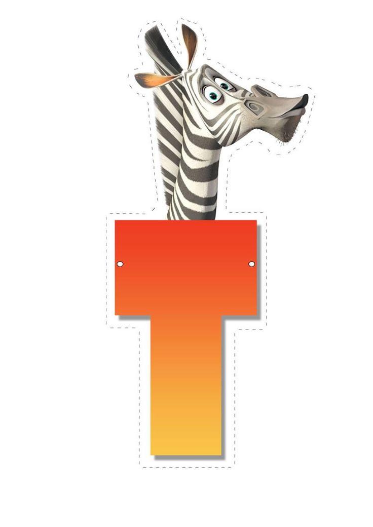 Zebra letter T letter