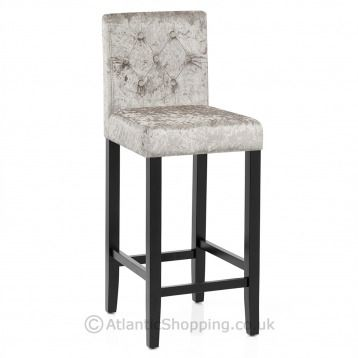 With a soft shimmer that is sure to catch the eye, our Brooks Bar Stool is available in mink, grey and black crushed velvet.