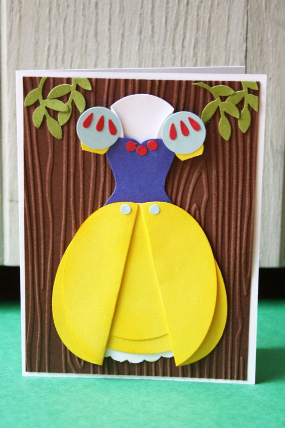 Snow White Handmade Card by HootandTootsLoot on Etsy