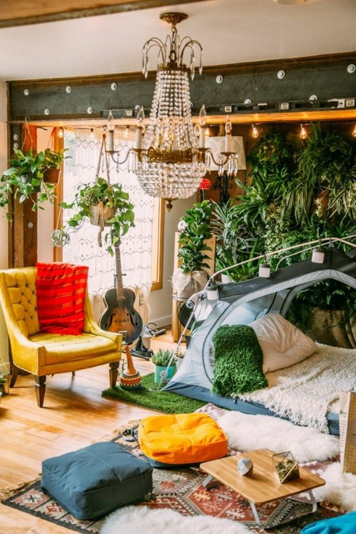 1000 id es propos de chambres chics hippie sur - Chambre originale adulte ...
