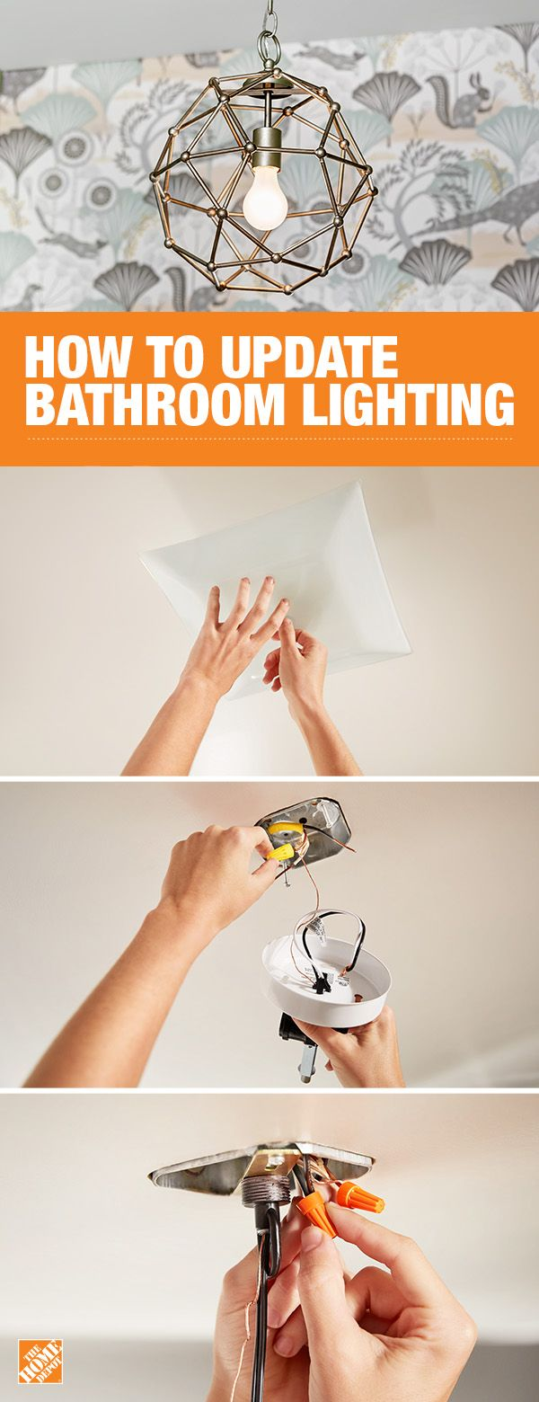 Try adding a new light fixture to your bathroom to give your space style and personality. It's easier than you think if you follow the safe and simple step-by-step instructions on The Home Depot blog.