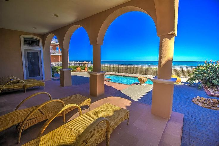 Stunning Ocean Front Home   6516 Beach Dr   South Padre Island, Texas 78597