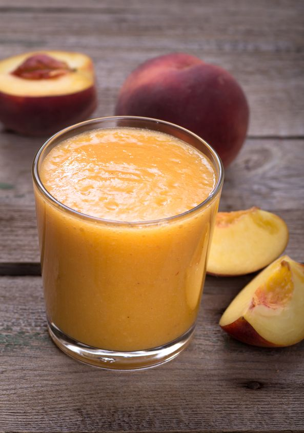 Kickstart a healthier year with this refreshing Mango Peach Smoothie! It's full of healthy fruit and makes for a great snack for kids.