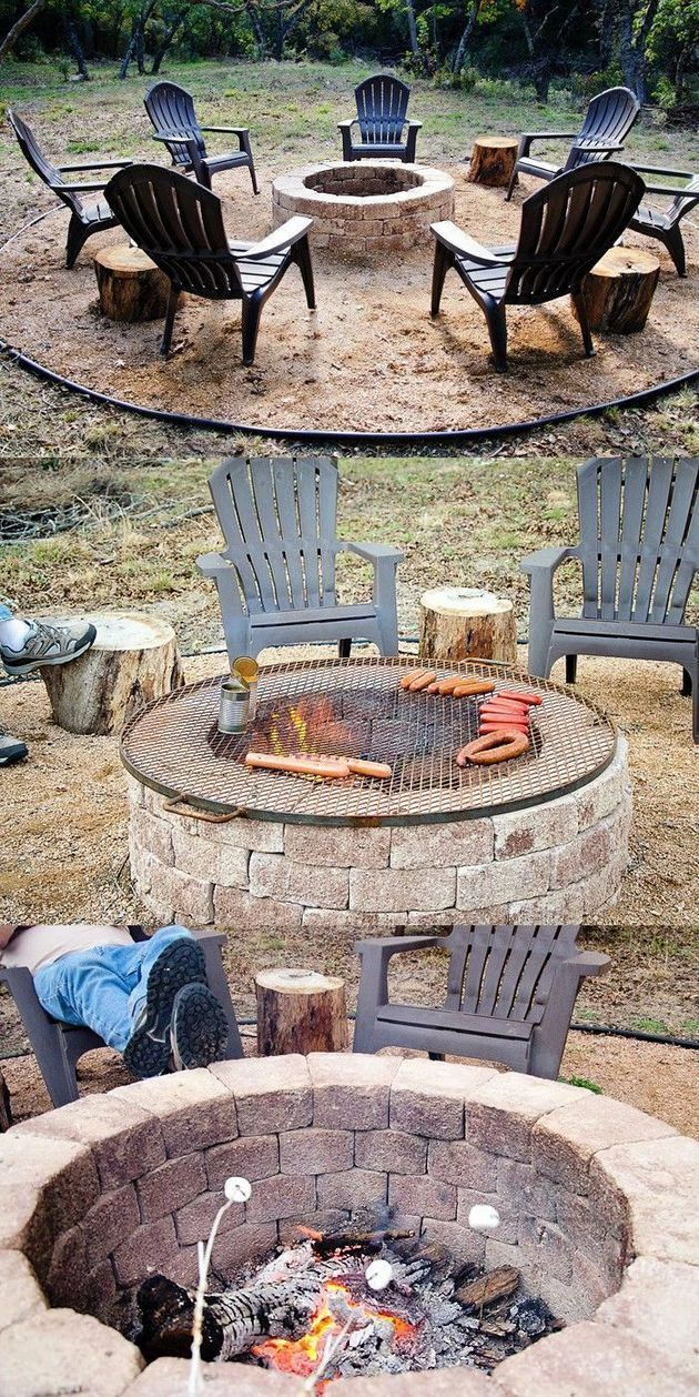 25 Easy and Simple DIY Fire Pit Ideas - Pajero is My Dream ...