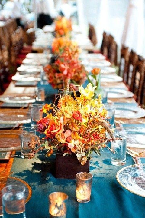 62 Romantic Fall Wedding Tablescapes | HappyWedd.com