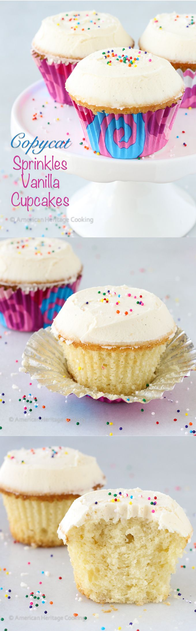 Sprinkles Copycat Vanilla Cupcakes - absolute best cupcakes I've ever had. I will never use another recipe.