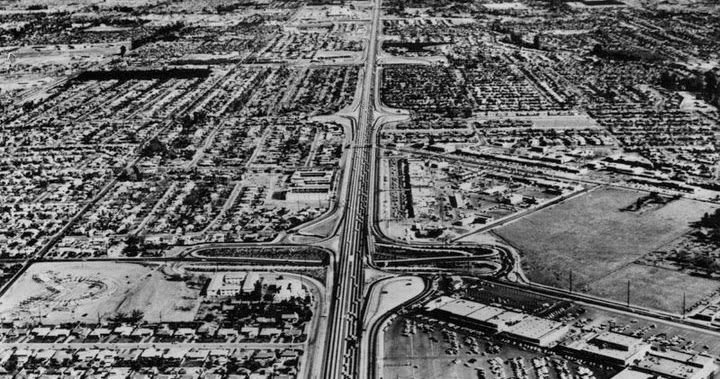 Aerial of West Covina Plaza