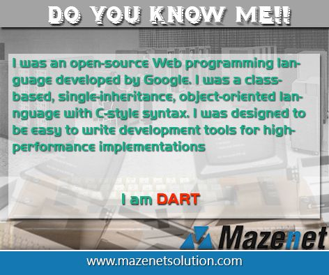 History of the DART Programming Language