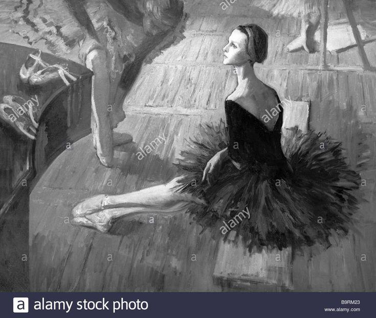 Valeri Kosorukov Portrait of Elena Ryabinkina Bolshoi Ballet leading dancer.