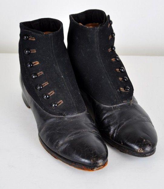Victorian Era Dress Shoes | Victorian Mens Shoes Vintage men's boots- victorian