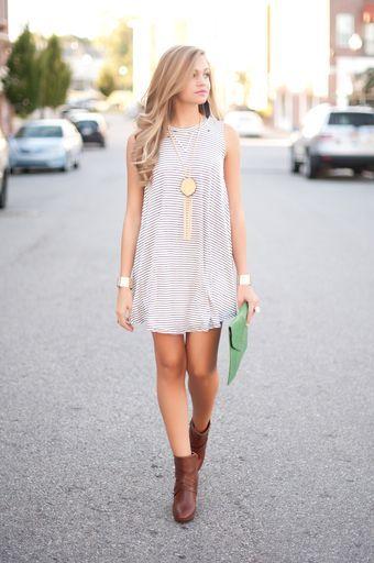 Stripe t shirt dress