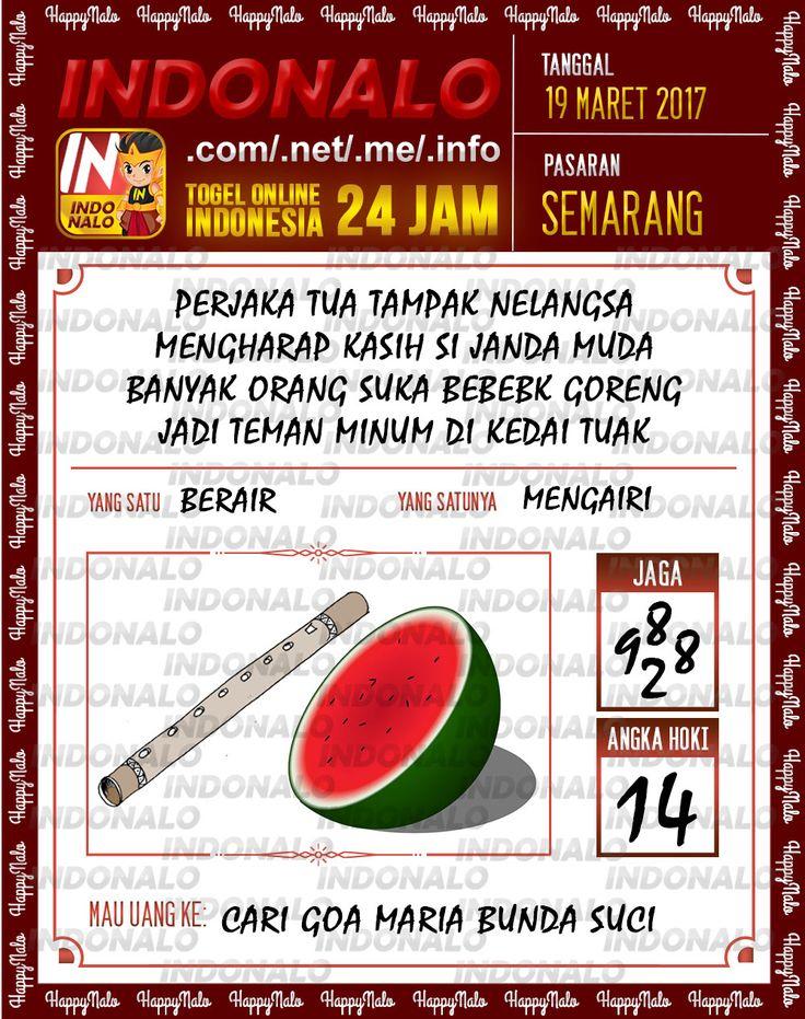 Angka Kuat 3D Togel Wap Online Indonalo Semarang 19 Maret 2017