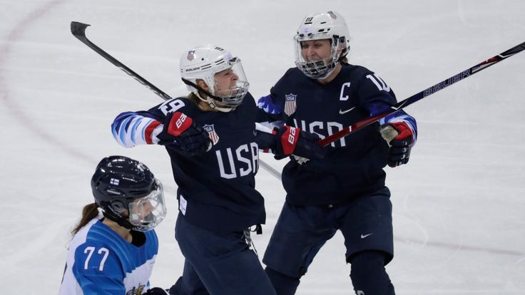 U.S. blanks Finland to book spot in women's hockey final Will face winner of game between Canada and Olympic Athletes from Russia U.S. blanks Finland to book spot in women's hockey final