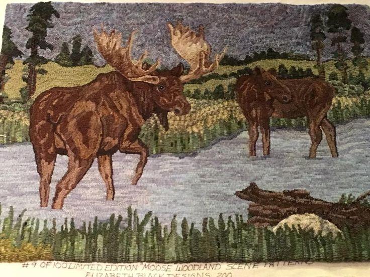 Hooked Rug ... Moose