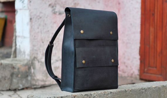Genuine leather backpack, handmade backpack for men, P004 Model. 100% hand-made.