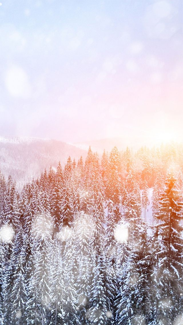 Get this free Beautiful Snowy Forest Winter Sunrise scenery iPhone 5 Wallpaper, check out our other best iPhone 5 wallpapers here